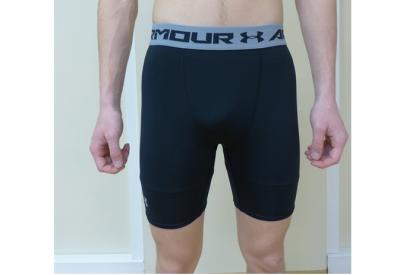 Short Compression UA HeatGear® Armour Mid- Noir