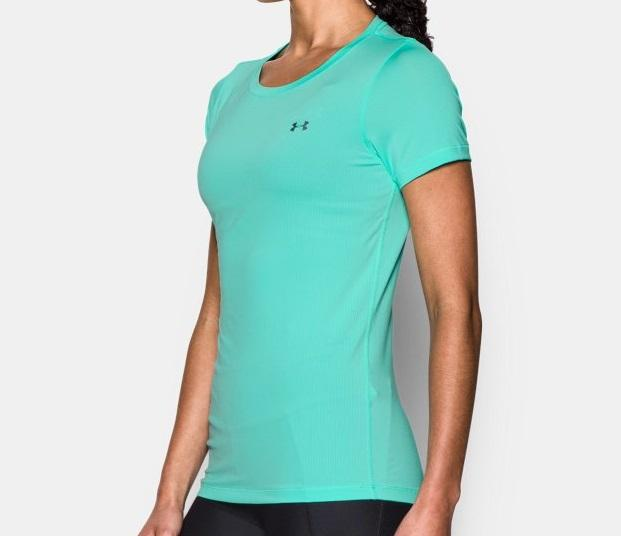 T-Shirt UA HeatGear® Armour Short Sleeve - Vert d'eau