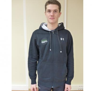 UA Sweat Capuche Storm Rival Fleece Total Zip - Noir