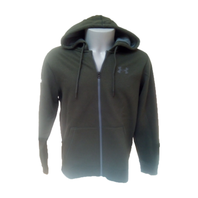 UA Tech Sweat Capuche Fermeture Kaki