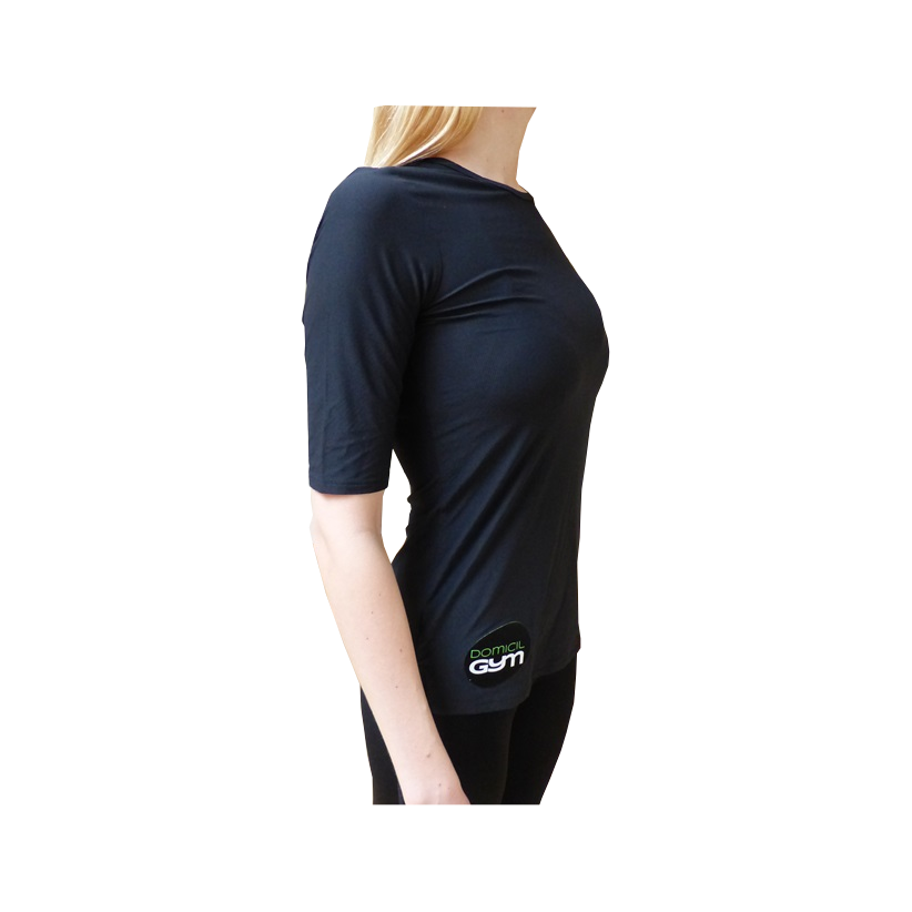 Maillot course t shirt sport under armour noir femme 3