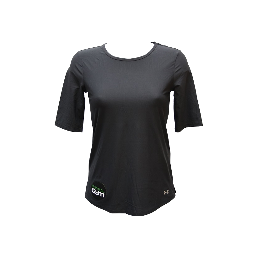 Maillot course t shirt sport under armour noir femme 5