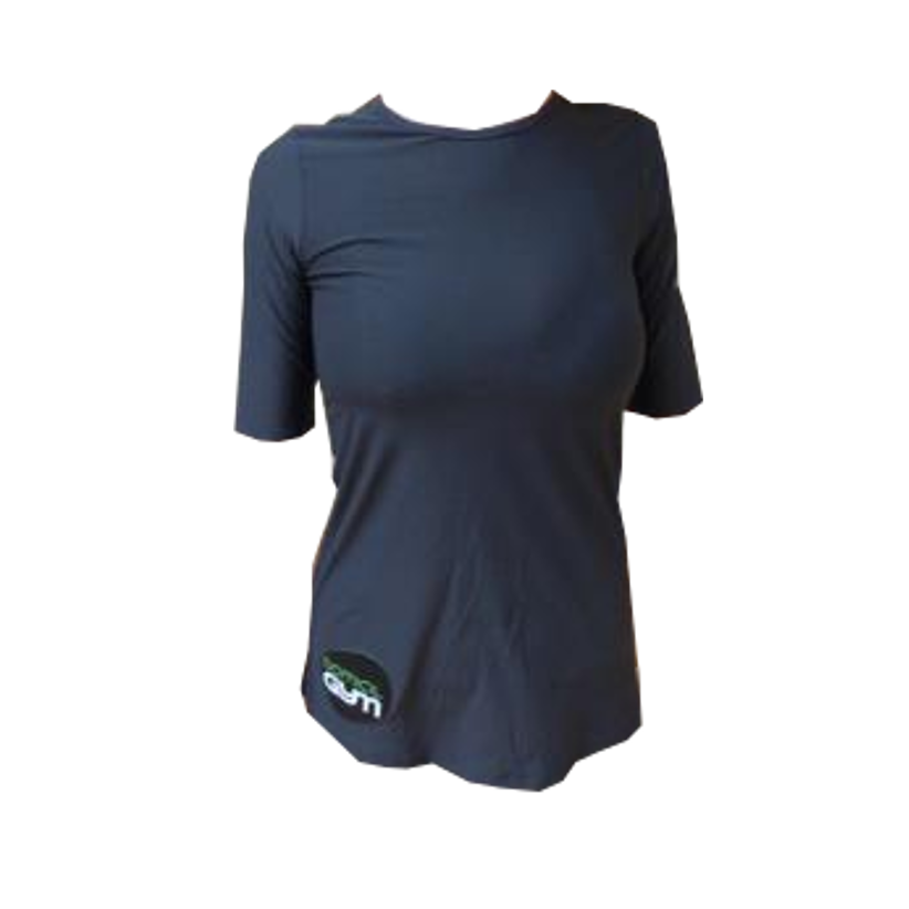 Maillot course t shirt sport under armour noir femme