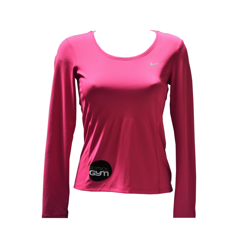 T shirt sport nike rose femme manches longues