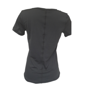 T shirt top femme noir sport fitness under armour 3