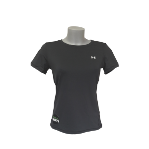 T shirt top femme noir sport fitness under armour