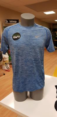 T-Shirt Dri Fit bleu chiné Nike